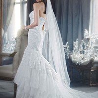 Sweetheart Fit and Flare Gown with Tiered Skirt