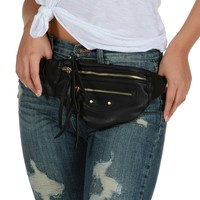 Sale-black Globetrotter Fanny Pack