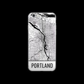 Portland Map iPhone 5, 6 or 7 Case