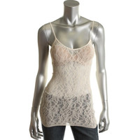 Bar III Womens Lace Adjustable Straps Camisole