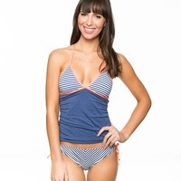 Sporty Blues Tankini Top And Tunnel Bottom