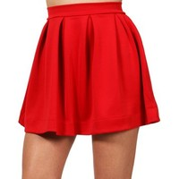 SALE-Red Back Zipper Skirt