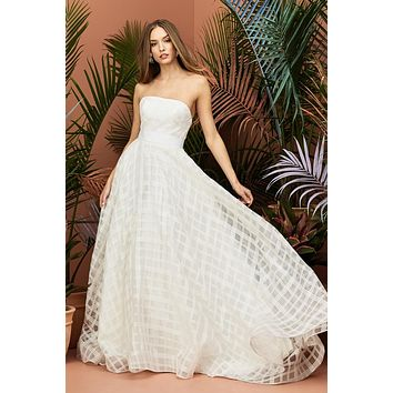 Wtoo by Watters 11106 Rosalind Strapless Plaid Ball Gown Wedding Dress