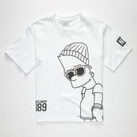 Neff The Simpsons Big Steeze Boys T-Shirt White  In Sizes