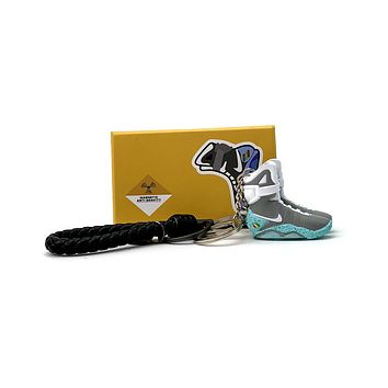 3D Sneaker Keychain- Nike Air Mag Back To The Future Pair