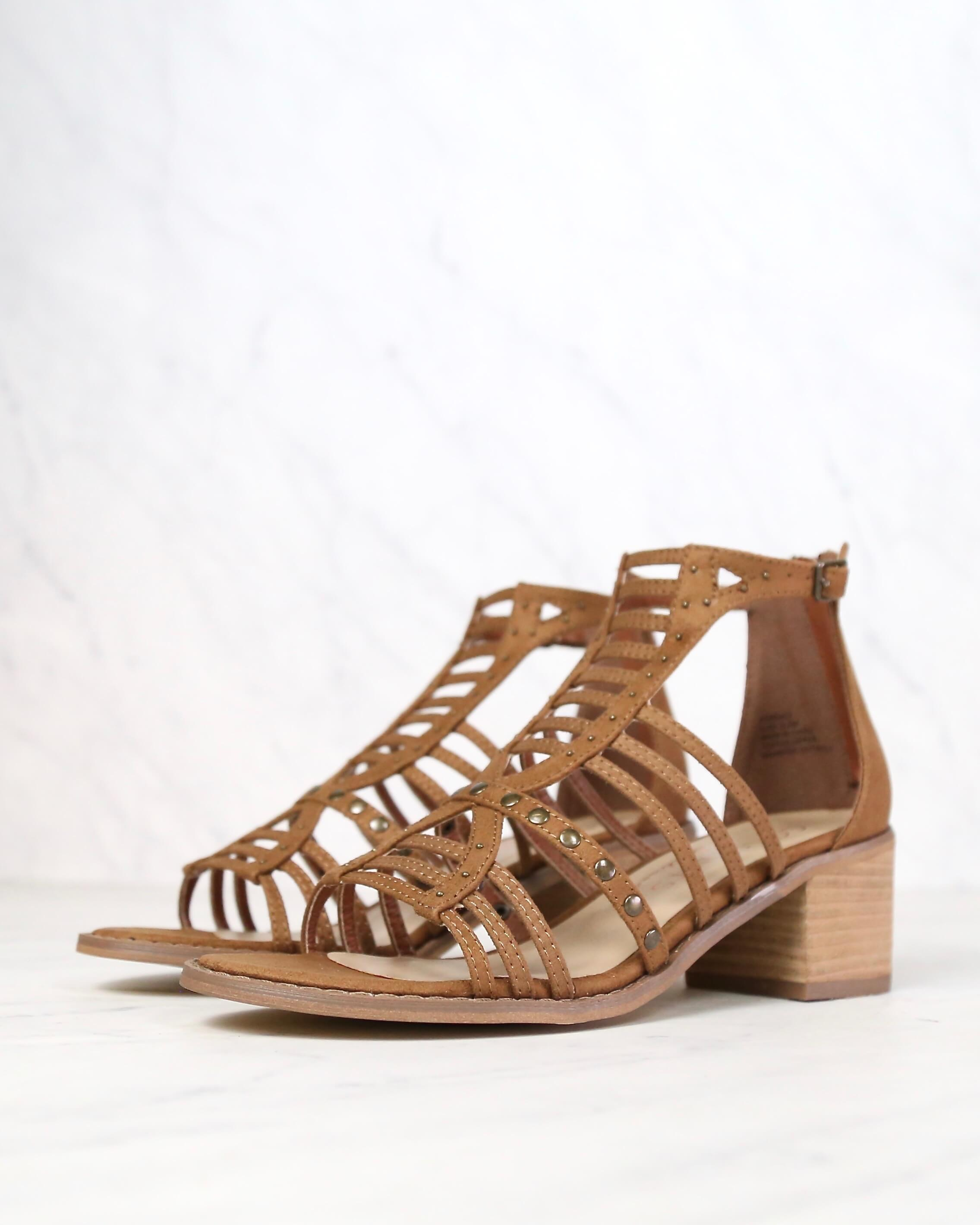 Image of COCONUTS By Matisse - Essence Heeled Sandal in Saddle