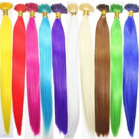 "20pcs Single Color Solid Synthetic Feather Hair Extensions 16"" Long"