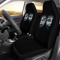 Bride of Chucky Design Black Seat Covers