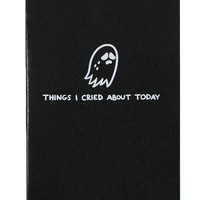 THINGS I CRIED ABOUT MINI JOURNAL