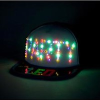 Blue LED Party Trucker Hat
