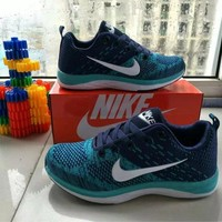 """Nike"" Sport Casual Unisex Multicolor Flyknit Sneakers Couple Running Shoes"