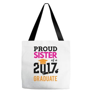 Class of 2017 Proud Sister Graduation Tote Bags