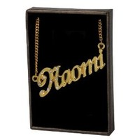 """Name Necklace """"Naomi"""" - 18K Yellow Gold Plated"""