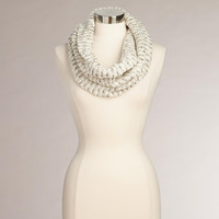 Ivory and Gold Twist Sequin Snood - World Market