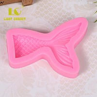 DIY Fish Silicone Fondant Cake molds 3D Mermaid Fish Mould Tail Moulds Soap Mold Chocolate Mould For The Baking Tools Cake