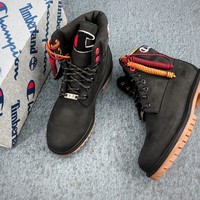 Champion X Timberland Black Waterproof Boots - Best Online Sale