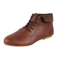 SPICY by Beston Women's 'F703-SF' Oxfords Ankle Boots | Overstock.com