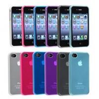 TOOGOO For Apple iPhone 4 4S TPU Rubber Skin Case Combo, 6-Pack