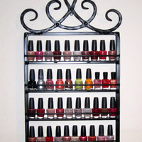 Wrought iron hanging nail polish rack  Royal crown