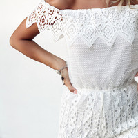 Buy Monroe Lace Playsuit Online by SABO SKIRT