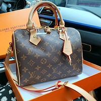 LV Louis Vuitton Women Shopping Bag Leather Handbag Shoulder Bag Crossbody Satchel