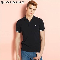 Men Polo Embroidery Shirt Short Sleeves Tops Turn-down Collar Polo Clothing Male Fashion Casual Polo
