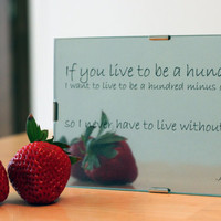 A A Milne Love Quote Mirror by HeartyDesign on Etsy