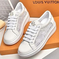 Louis Vuitton Women Fashion Casual Sneakers Sport Shoes Black