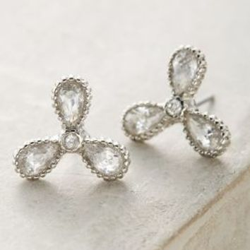 Trifolium Posts by Anthropologie in Silver Size: One Size Earrings