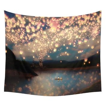 153*130cm Multi-purpose Printed Wall Tapestry Hanging Twin Bedspread Beach Yoga Mat Throw Towel for home hotel Decor