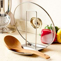 Stainless Steel Pan/Pot Rack and Spoon Holder