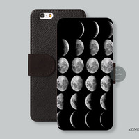 Moon Leather Wallet iPhone 6 case iPhone 6 plus case Wallet cover iPhone 5s case iPhone 5c case Galaxy s3 s4 s5 note 3 note 2 C00075