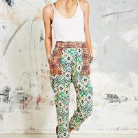 Native Rose Contrast Patch Trousers - Urban Outfitters