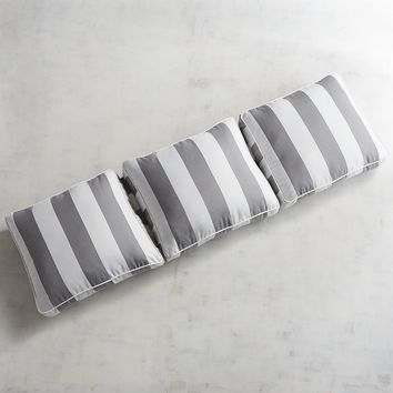 Large Modular Pillow Wedge Back in Dover Pewter