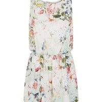 You Mint Green Floral Print Playsuit