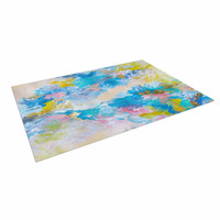 "Ebi Emporium ""When We Were Mermaids"" Blue Yellow Indoor / Outdoor Floor Mat"