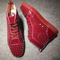 DCCK Cl Christian Louboutin Louis Spikes Style #1837 Sneakers Fashion Shoes