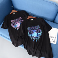 KENZO Tiger Print Cotton T-shirt