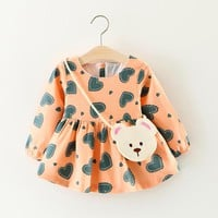 Winter Baby girls clothes dress Long sleeve princess Dress baby Outfits girls dress Newborn Baby Girl Clothes Infant Clothes