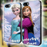 disney frozen anna and elsa Couple iPhone 4, iPhone 4s, iPhone 5, iPhone 5s, iPhone 5c, Samsung Galaxy S3, Sasmsung Galaxy S4 Case