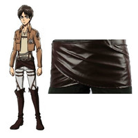 Cos cosplay Attack on Titan Shingeki no Kyojin Levi mikasa Leather skirt hookshot costume = 1946998532