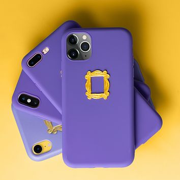 Actual 3D Friends Purple Door iPhone Case