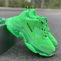 Balenciaga Triple-S green sneakers casual shoes clumsy sneakers