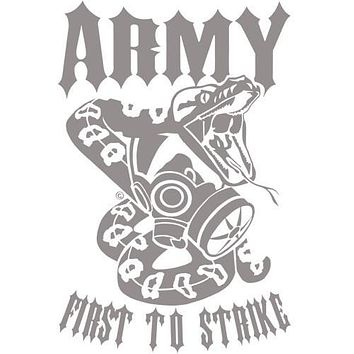 "Army First To Strike 12"" Vinyl Transfer"