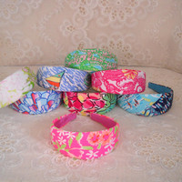 """Preppy 2"""" Wide Lilly Pulitzer Headband in 8 Prints"""