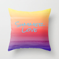 Summer Love Throw Pillow by Ally Coxon   iphone cases   skins   cards   bags  Tshirts and more at Society6