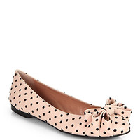 RED Valentino - Polka Dot Leather Ballet Flats