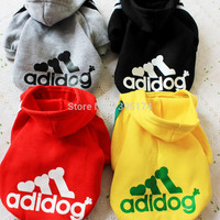 Dog Clothes Hooded Coat Playsuit Outwear