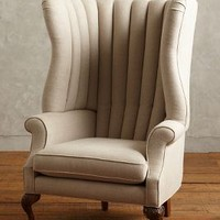Belgian Linen English Fireside Chair by Anthropologie Neutral One Size Furniture