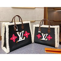 Louis Vuitton New Classic Teddy Series Shopping Bags Fringed Letter Flowers Ladies Handbags
